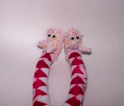 sock monkey rabbit slippers