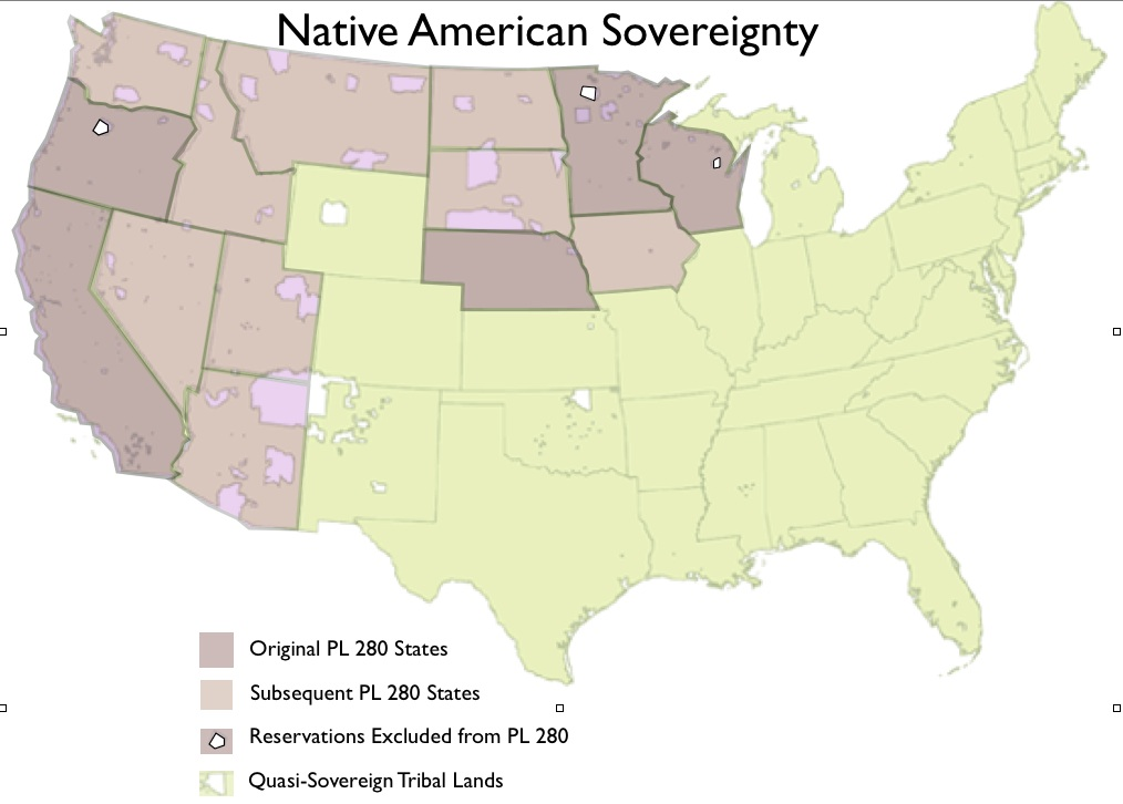 The Sovereignty Of NonSovereign Tribes GeoCurrents - Map of native american reservations in the us