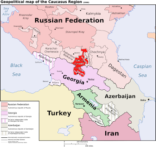 South Ossetia Gains Recognition GeoCurrents - South ossetia map