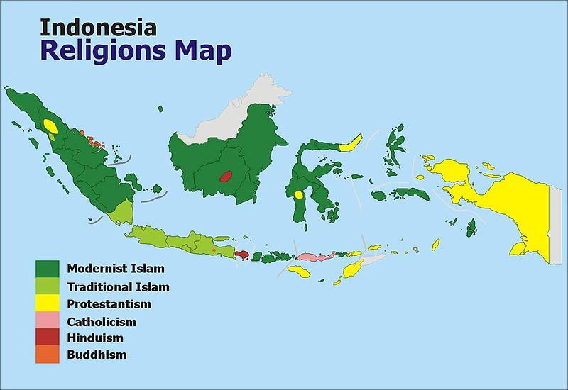 Mapping Religion in Indonesia | GeoCurrents