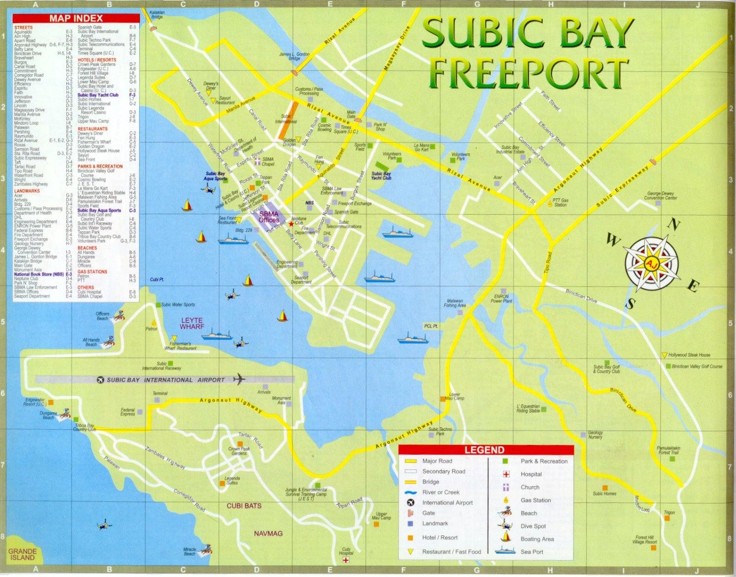Subic Bay Located About 100