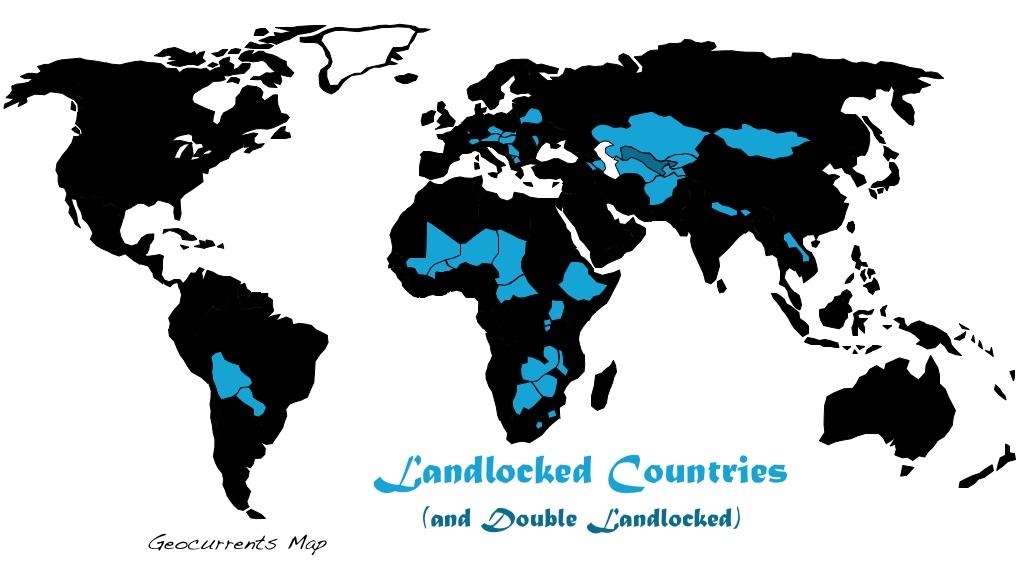 africa map landlocked countries