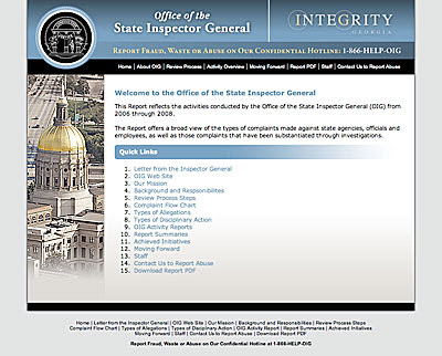 Georgia Office of the Inspector General Web Site