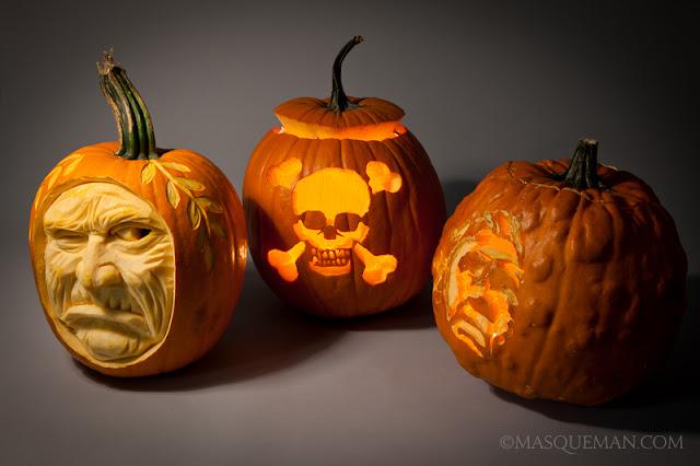 Awesome halloween pumpkin carvings masqueman photography