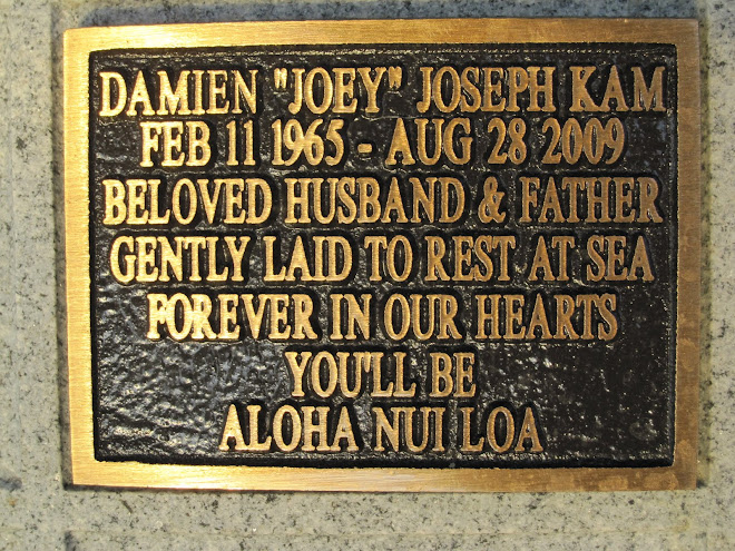 Damien's Memorial Plaque