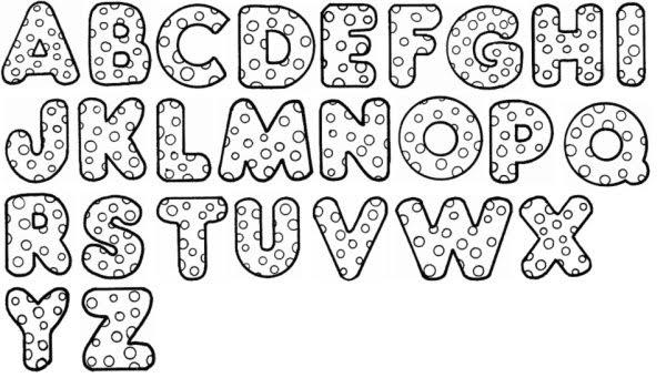 Moldes de letras gordas