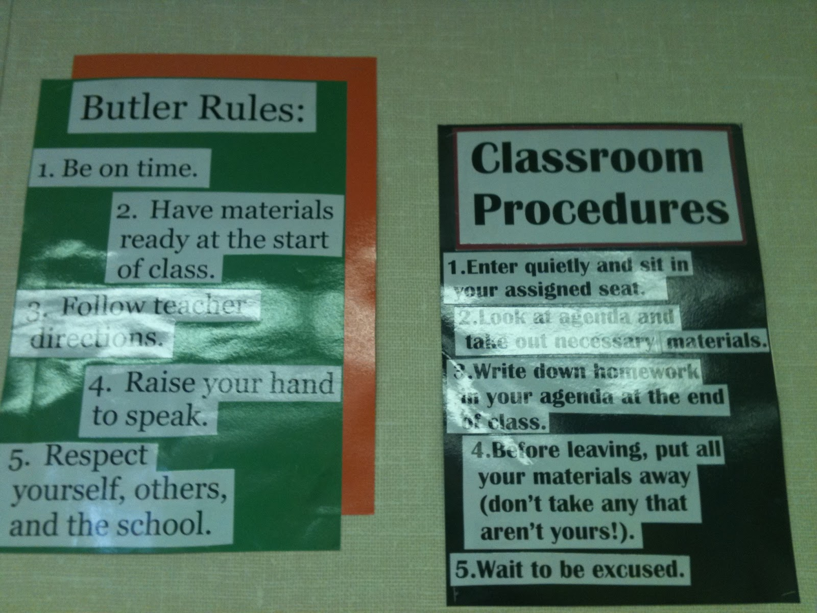 Elementary Classroom Procedures : High school classroom rules and procedures pictures to pin