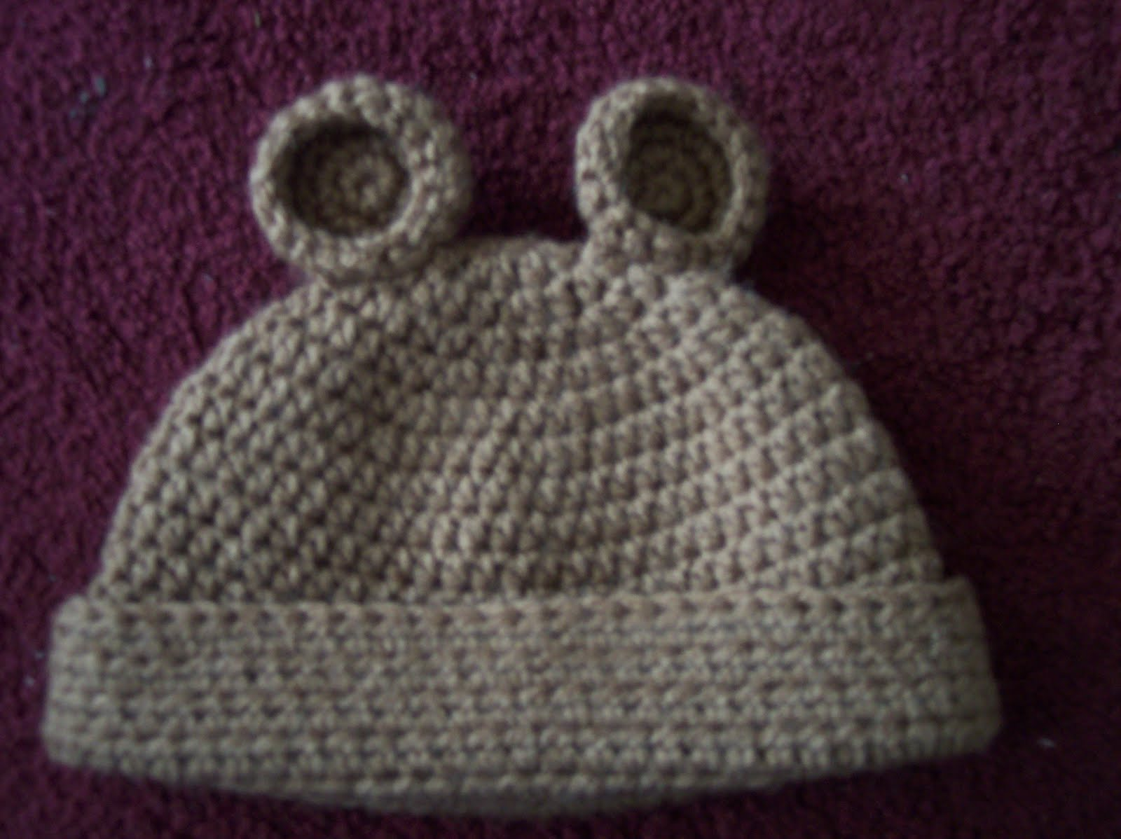 Crochet Baby Hat Pattern Double Crochet : The Crafty Crafter: Basic Half-Double Crochet Hat