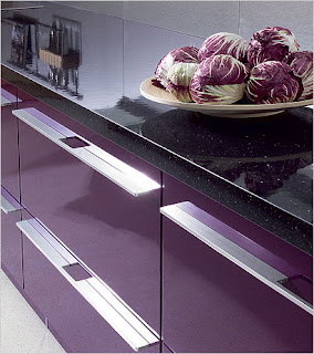 one purple kitchen design