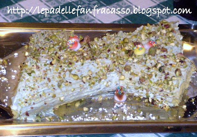 ricetta del tronchetto al pistacchio