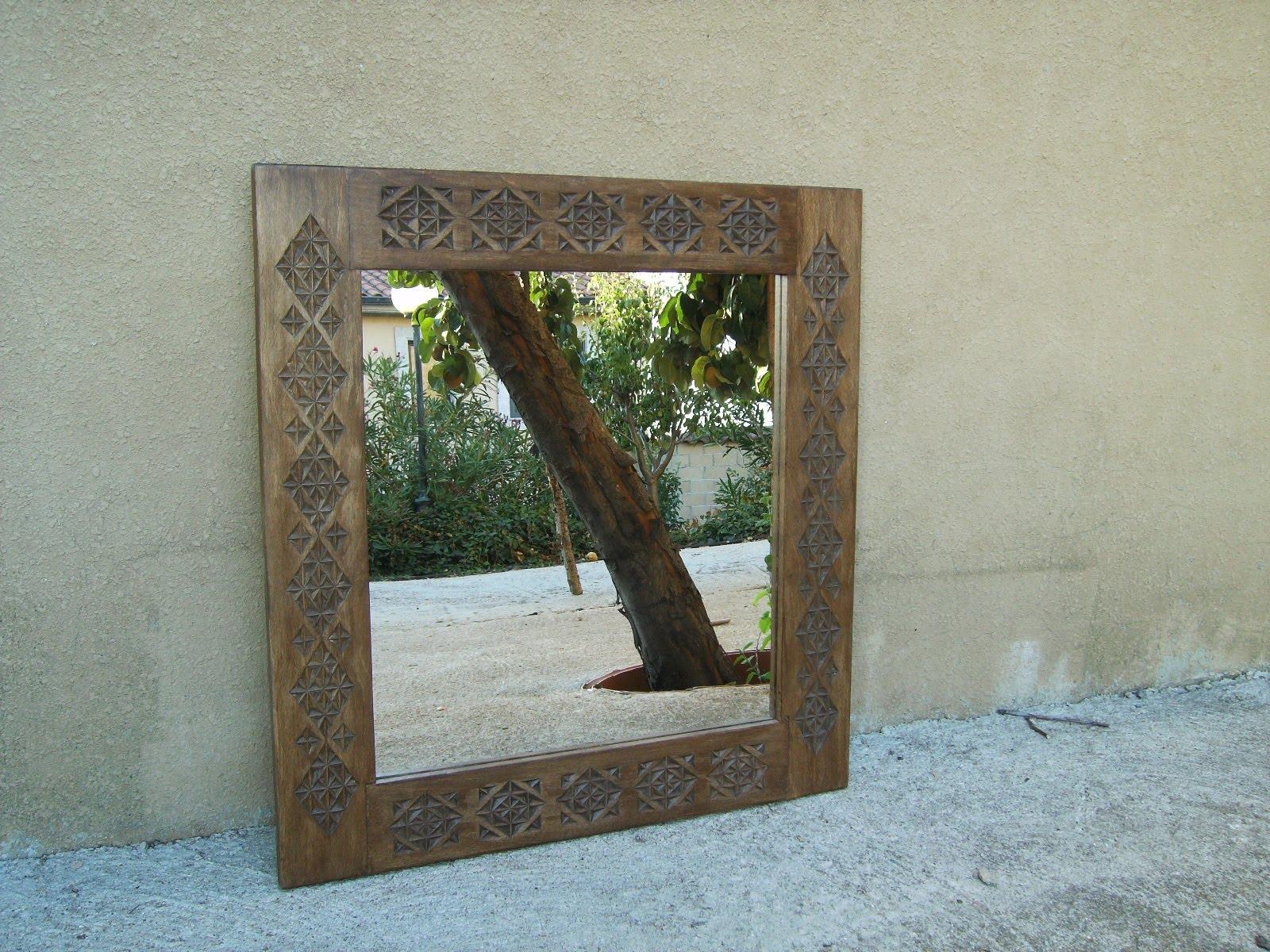 Espejo grande madera tallada for Espejo grande madera
