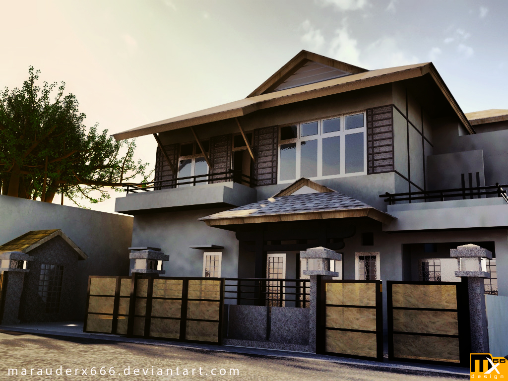 Natural design home house exterior design for Exterior 3d design