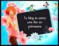 Selo Tu blog es como flor em primavera