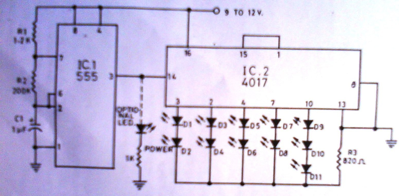 Huzoonline August 2010 Figure 1 Tda2050 Typical Hifi Amplifier Schematic The Direction Indicatorthe Leds Move Towards Indicator Forming A Pointer
