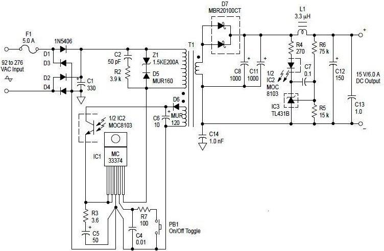 microlose  ac to dc 90 watt switching power adaptor