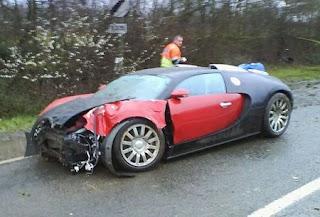 Bugatti on Bugatti Veyron Was Involved In The First Reported Crash For A Bugatti