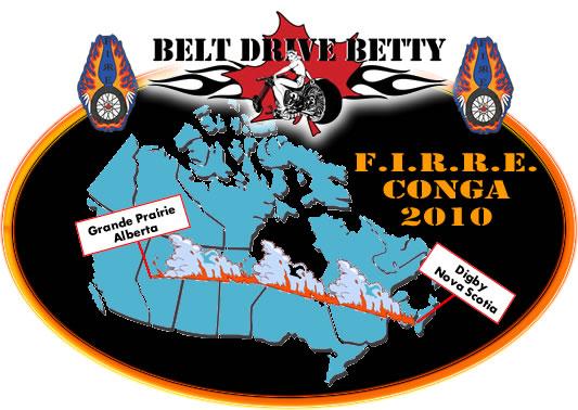 "Canada's Renee ""Belt Drive Betty"" Charbonneau mounted her bike Saturday ..."