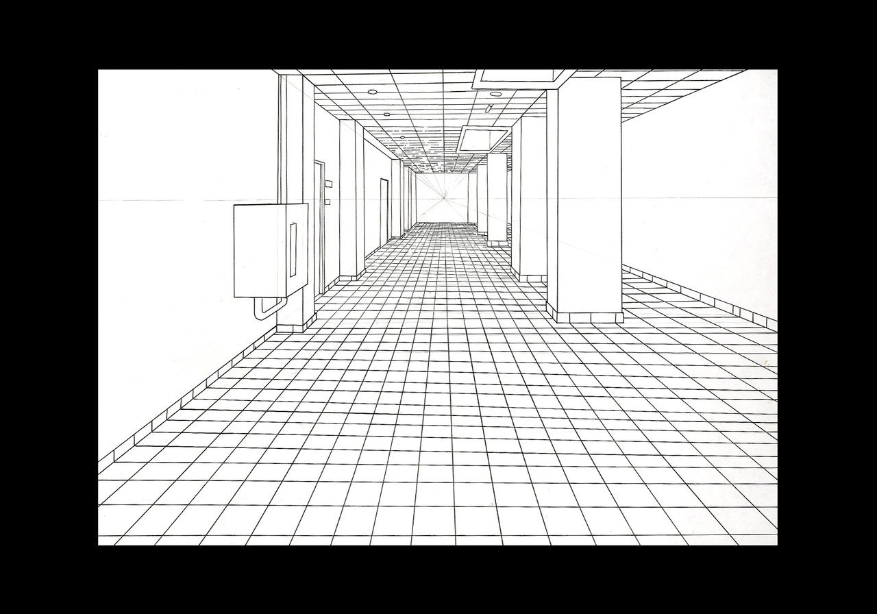 Drawing ii talbot for Exterior 2 point perspective