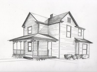2 Point Perspective Building Drawing http://drawing2talbot.blogspot.com/