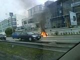 Kereta Terbakar di Lebuhraya Persekutuan