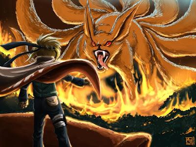Uzumaki Naruto and Kyubi Wallpaper