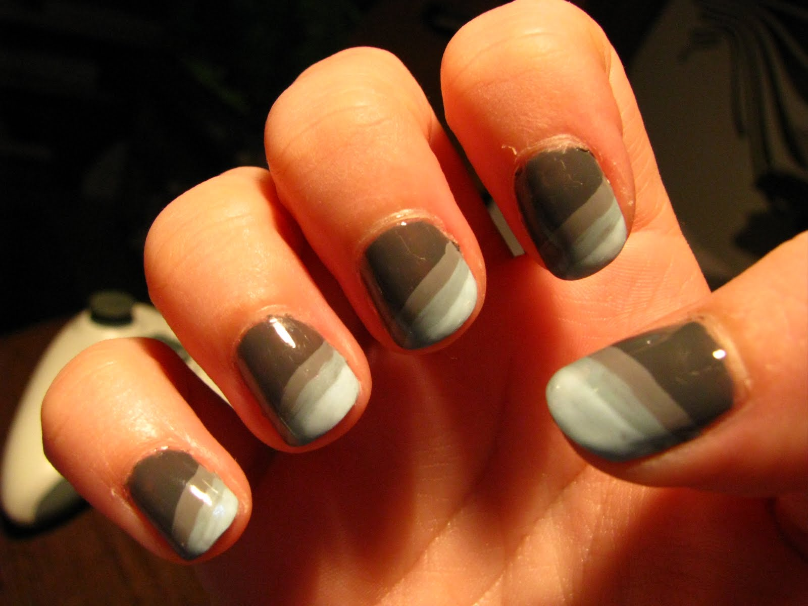 Nail art blue grey : London beauty review more have a go nail art grey blue spectrum