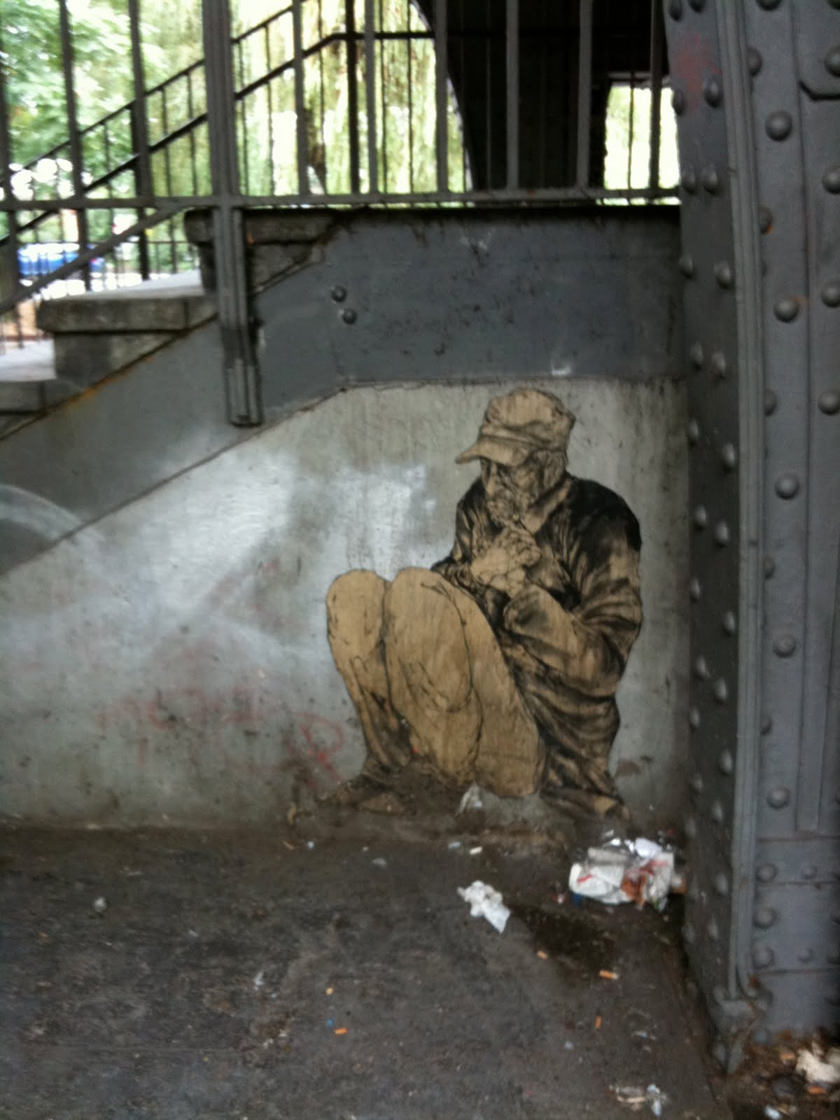 Scruffy Street Mutt Street Art Homeless Man