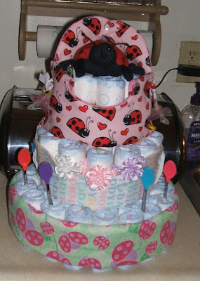 Ladybug diaper cakes pictures