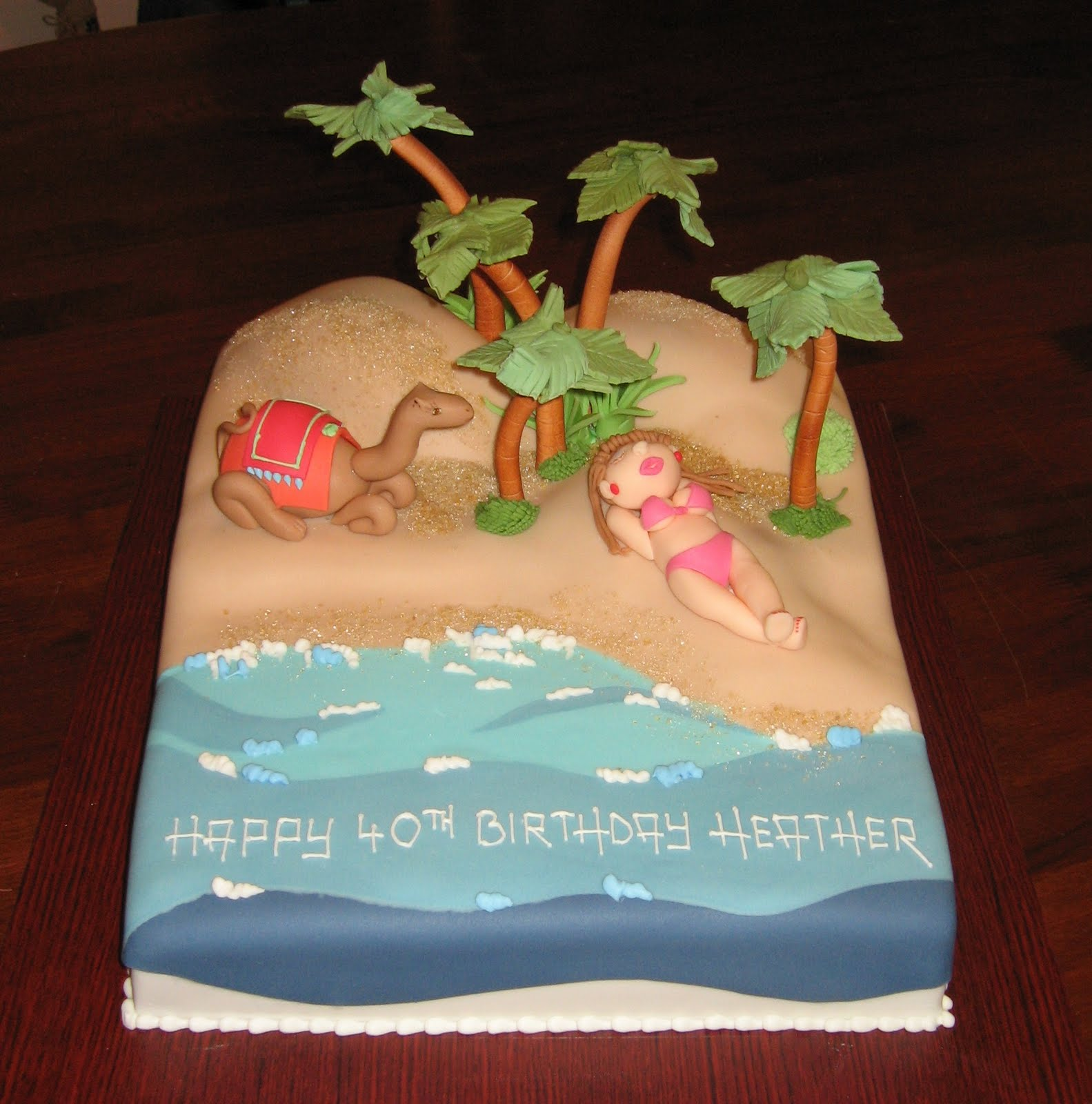 Beach Themed Birthday Cake | Beach Themed Birthday Cake Ideas | Beach Themed Birthday Cake ...