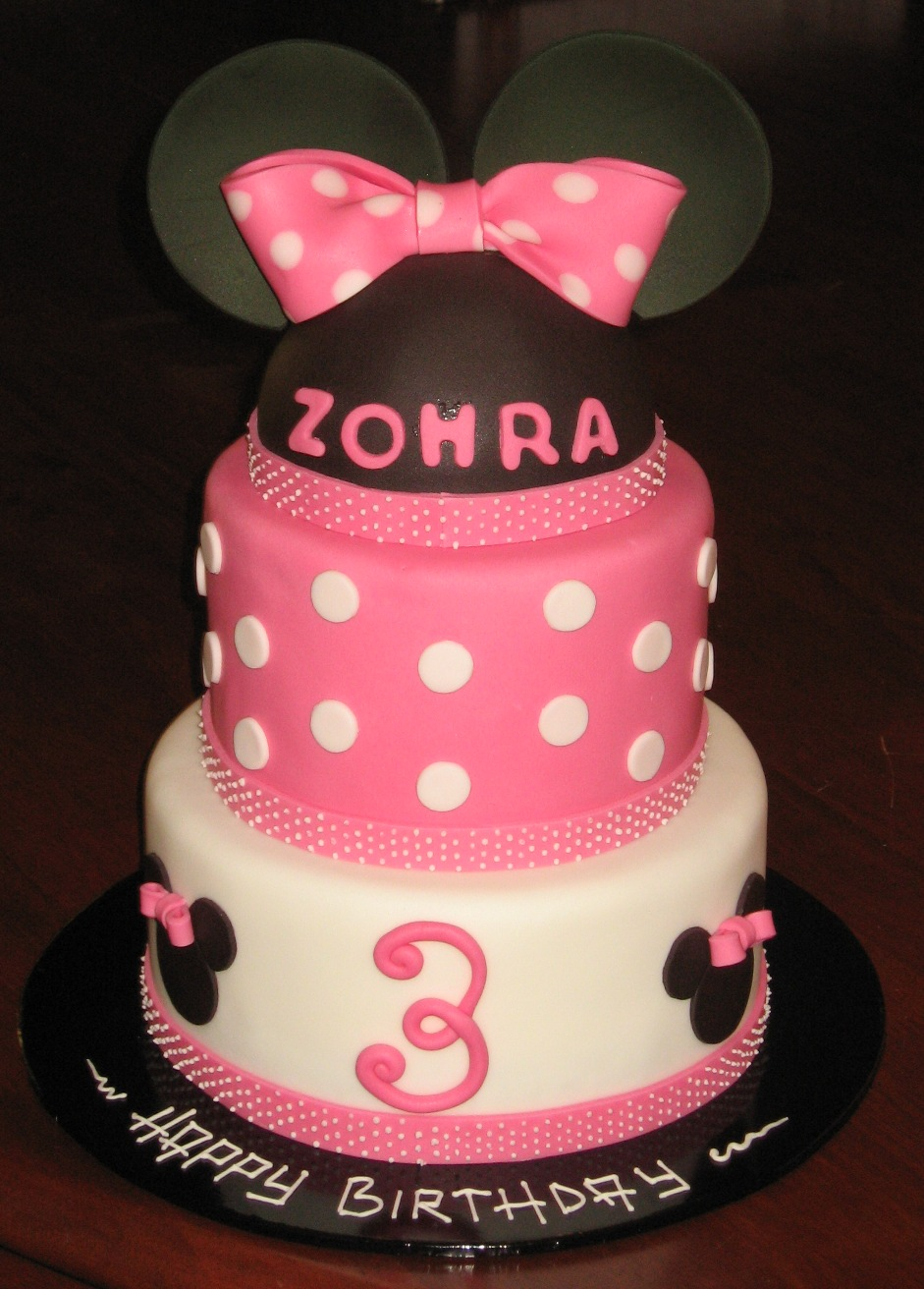 ... Tiered Cake, Parties Ideas, Eating Cake, Minnie Mouse Cake, Birthday