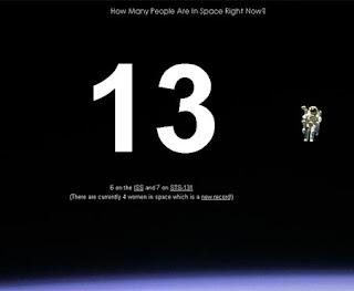 screengrab of astronaut counter