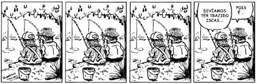 tirinha pesca isca