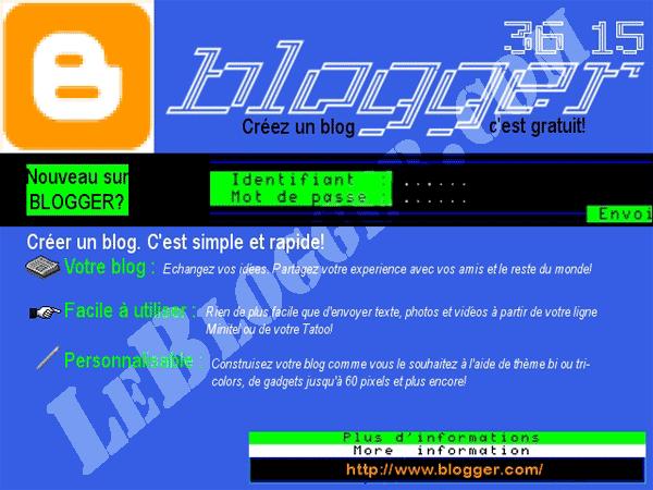 Blogger minitel