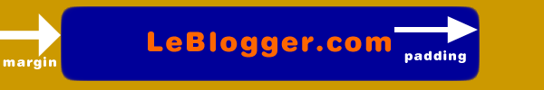 Blogger margin padding