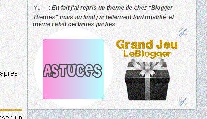 Grand Jeu Blogger