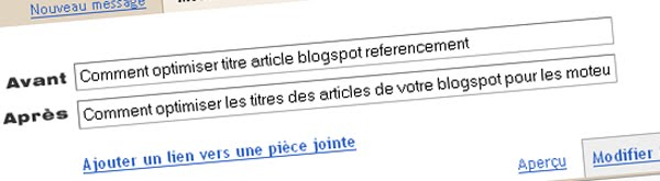Titre Article Blogger