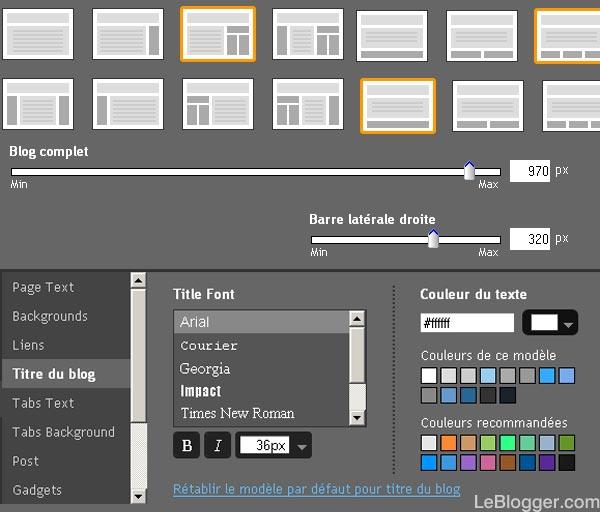 Tepmplate Designer Concepteur de modèles Blogger