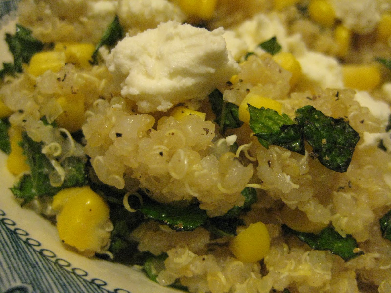 Bookcook: QUINOA WITH CORN, SCALLIONS, AND MINT
