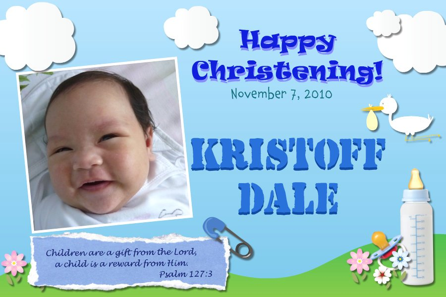 Renz Creations: Invitations and Giveaways: Dale's ...