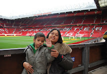Me & Noah at Old Trafford Stadium, Manchester