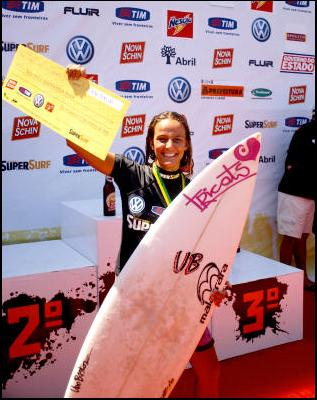 A campeã do SuperSurf 2006, na Barra da Tijuca