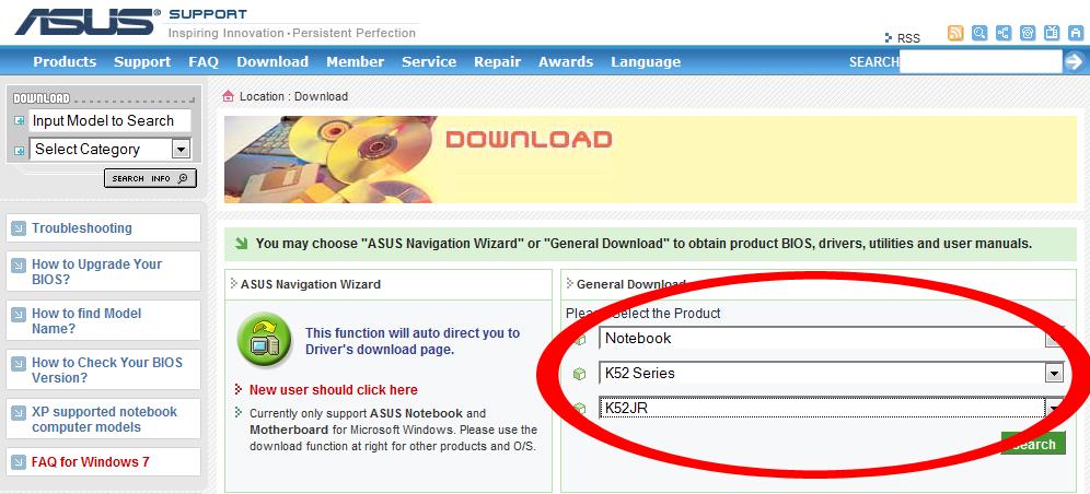 Asus f3ka Xp Drivers download