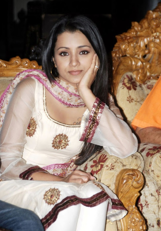 Trisha Krishnan Looking Awesome in White Dress gallery pictures