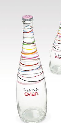 Paul Smith for Evian Water Bottle :  bottle evian paul smith print