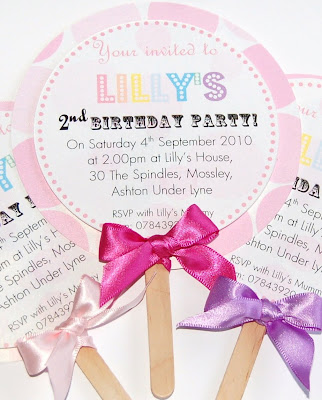 Made With Love Blog: Sweet Invitations & Table Numbers :  invitations lollipo sweets children