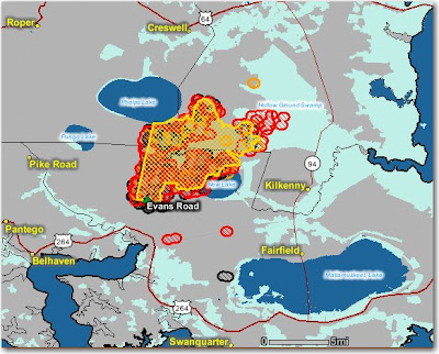 NC Evans Road fire maps - Wildfire Today