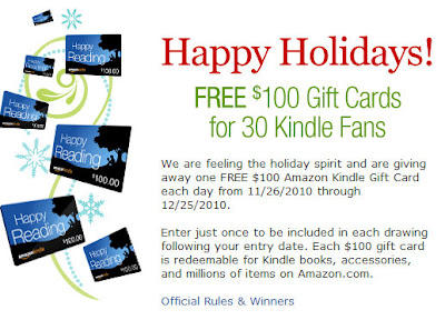 Kindle Nation Daily Just In Amazon Giving Away a 100 Gift Card