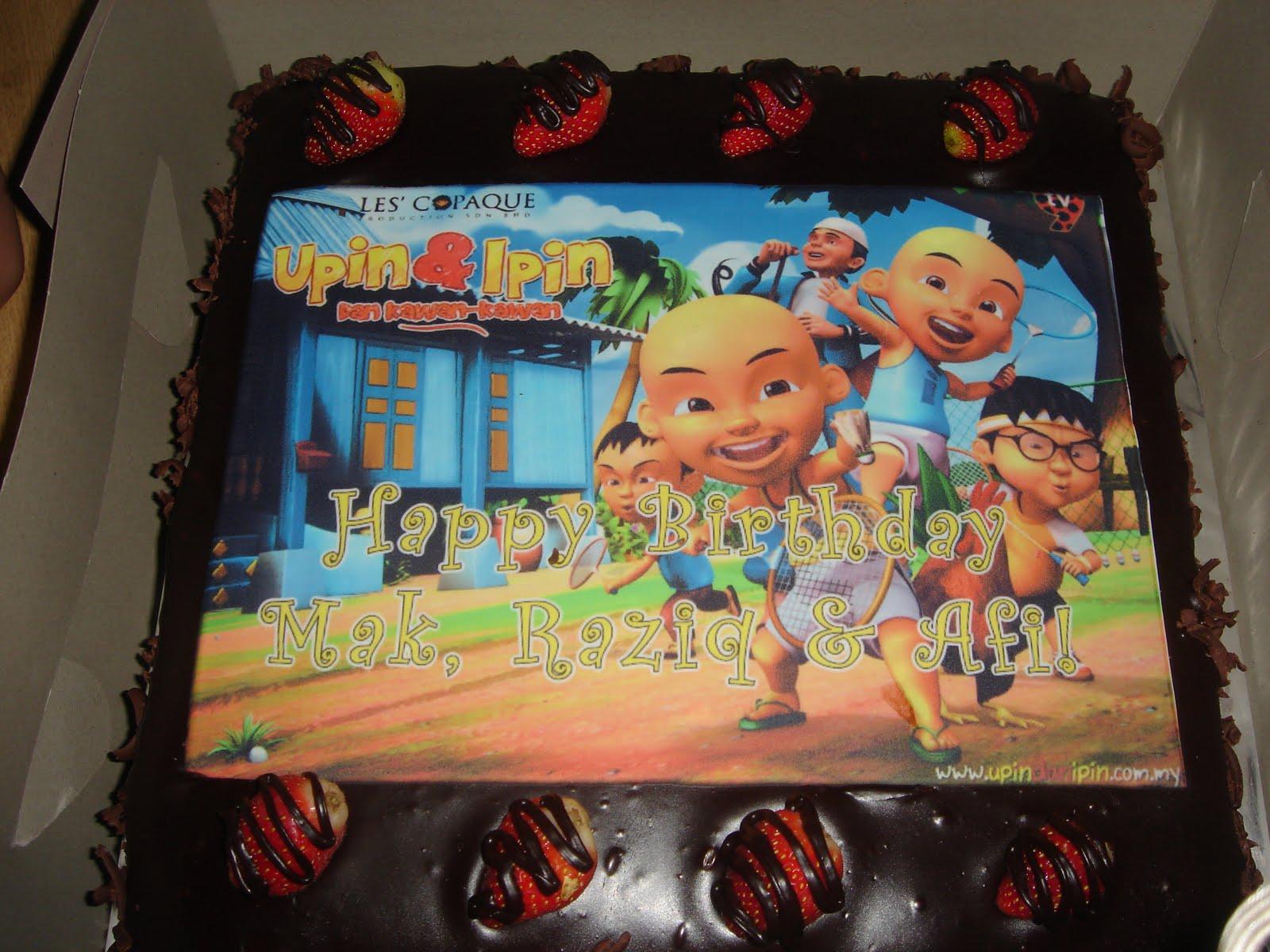 Flav Upin Ipin Birthday Cake