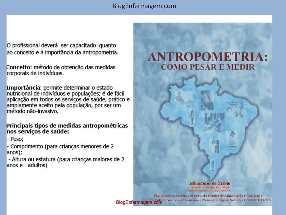 Info enfermagem livro antropometria como pesar e medir for Medidas antropometricas pdf