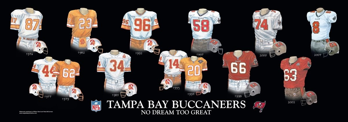 Tampa Bay Buccaneers Uniform And Team History Heritage